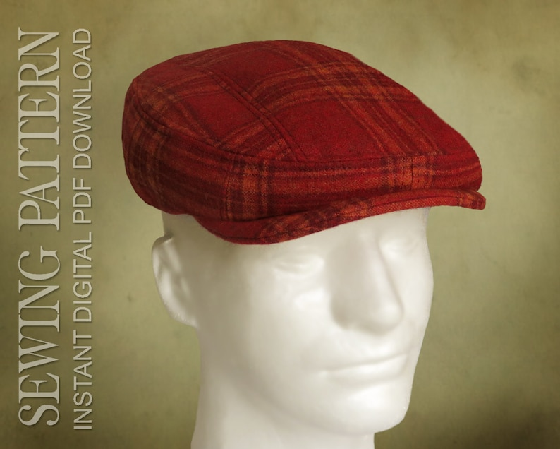 a3c0d1c0e SEWING PATTERN - Finch, 1920's Irish Flat Cap Ivy Cap for Child or Adult  patch cap optional ear flap - PDF Download