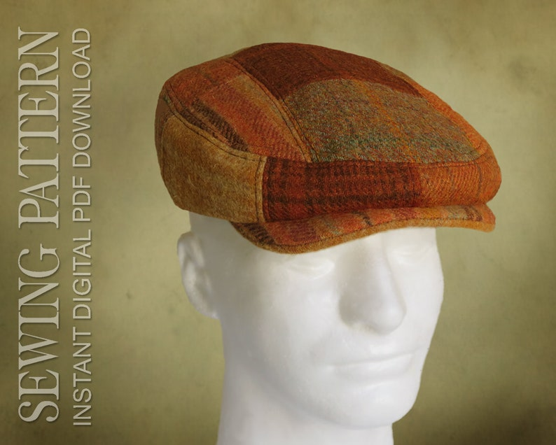 5c2631b3a3d108 SEWING PATTERN Finch 1920's Irish Flat Cap for Child or   Etsy