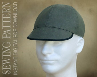 SEWING PATTERN - Ianto - classic cycling cap, welding cap, biking cap - PDF Download