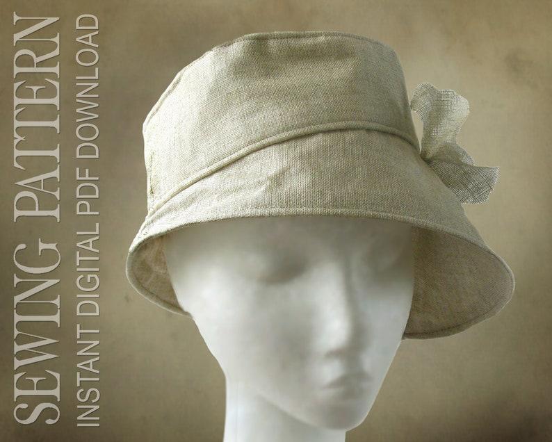 SEWING PATTERN  Joan 1960's/modern bucket cloche hat for image 0
