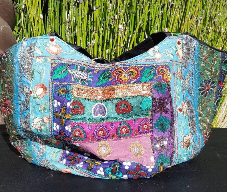 1 vintage 90s totebag India hippie Bohostyle bag  cced3e114884c