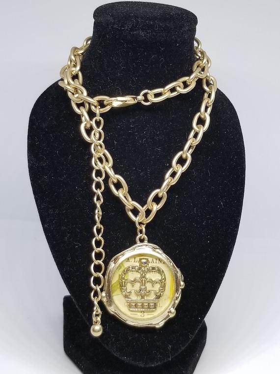 Fabulous vintage 90s gold celtic punk rocker necklace amazing choker crown hippie bohemian necklace awesome gorgeous gift victorian corona