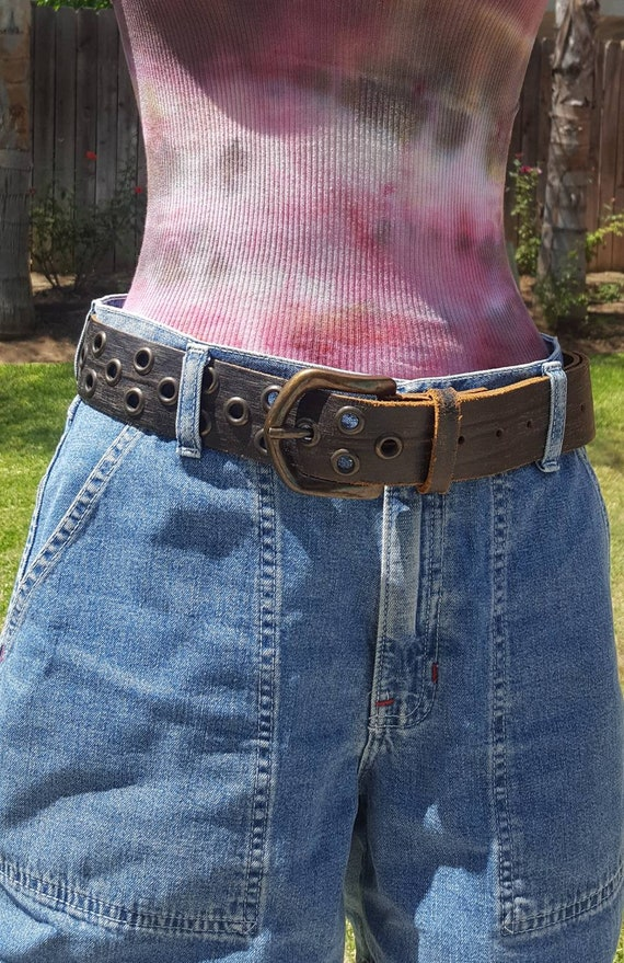 Studded Leather belt Biker Belt Punk Rocker Unisex Leather Belt Boho Belt