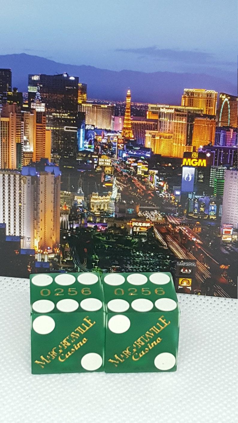 Amazing rare vintage green Margaritaville Las Vegas Casino dice bones craps shooter tablegames fun gambler souvenir memorabilia mancave