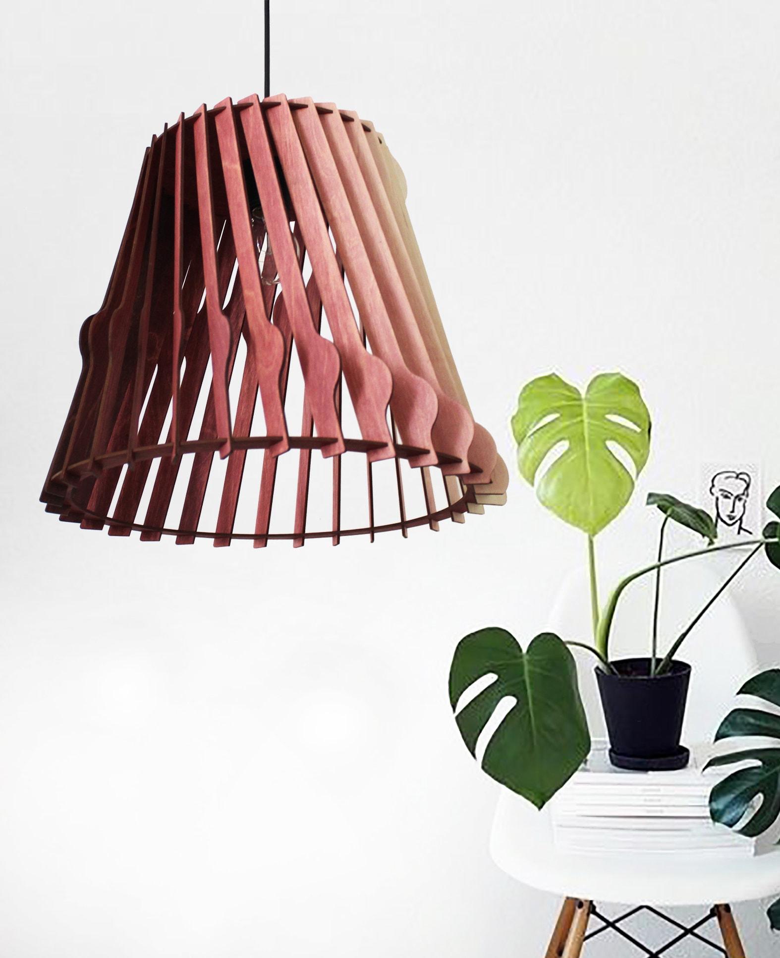 Stile scandinavo in legno lampada a sospensione lampada a