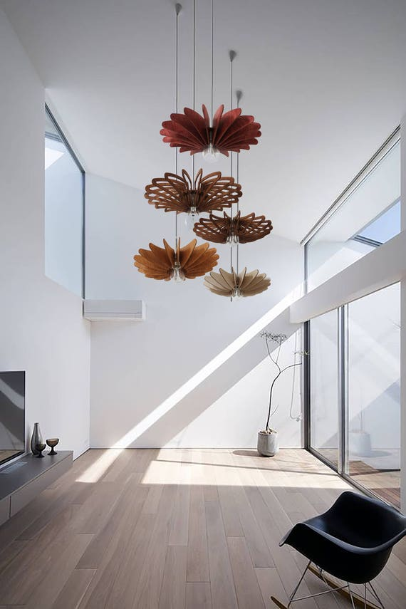 Holz-Pendelleuchte Esszimmer Hängelampe Schlafzimmer Lampe | Etsy