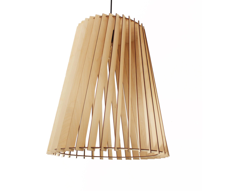 Scandinavian LARGE lampada in legno lampada a sospensione in