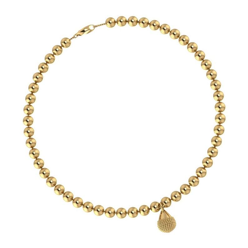 Nubia Charm Drop Bracelet 4mm Sterling Silver Beads