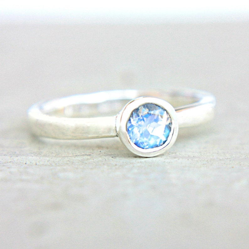Moonstone Engagement Ring Rainbow Moonstone Ring Blue Moonstone Ring 14k Gold Ring Sterling Silver Ring In Your Size June Birthstone