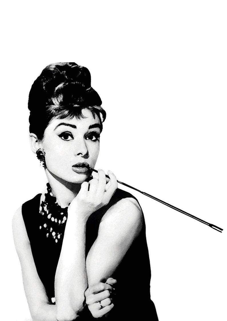 2245fac14a27 Audrey Hepburn descargar cartel imprimir blanco y negro