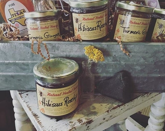 HERBAL INFUSED HONEY {Local Honey, Organic Herbs, Ayurvedic, Healing, Naturally Flavored, Immune Boosting, Holistic}