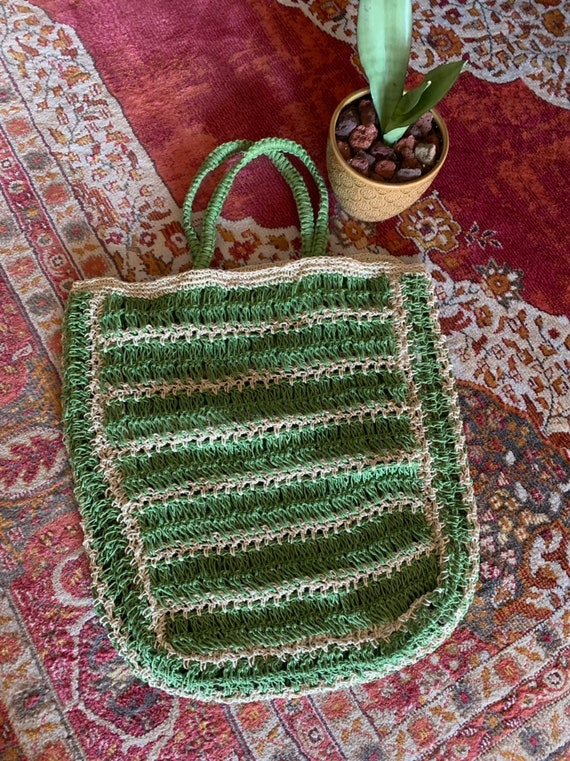 JUTE MARKET BAG {Shopping, Market, Farmer's Market, Travel, Beach, Diaper, Reusable, Eco Friendly}