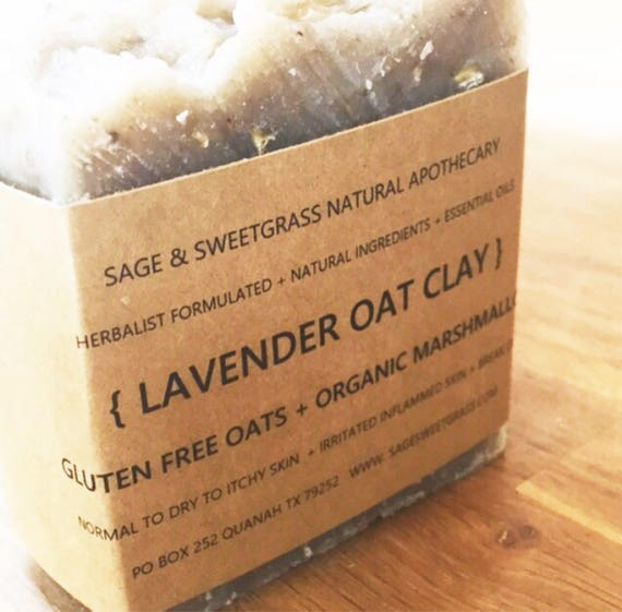 LAVENDER OAT CLAY {Herbalist Formulated, Organic Herbs, Dry, Itchy, Irritated, or Sensitive Skin, Face & Body, All Skin Types}