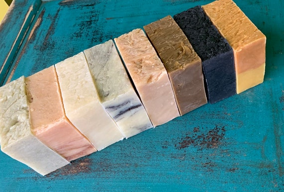 NATURAL SOAP SAMPLER (8 bars of all natural soap, randomly chosen by us)