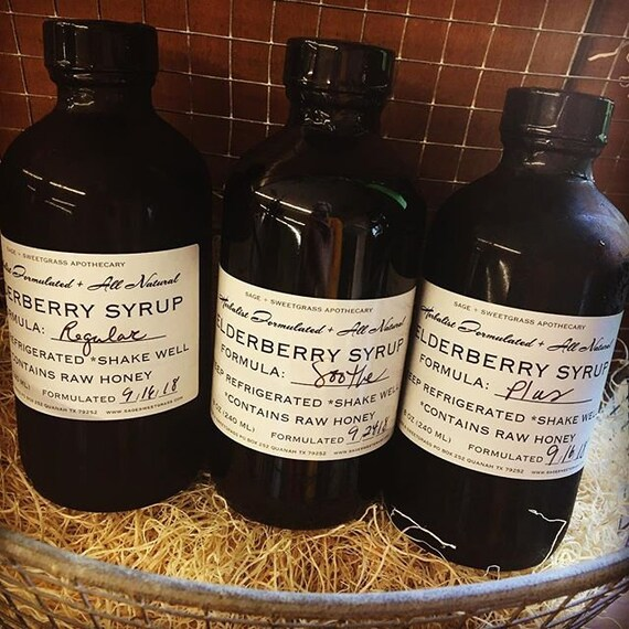 ELDERBERRY SYRUP (Several Formulas, Antiviral, Adaptogen, Antioxidants, Boost Immunity, Alleviate Symptoms, Age 1+)