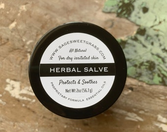 HERBAL HEALING SALVE {Severe Dry Skin, Irritated Skin, Acne Scars, Tattoos, Bug Bites and more}