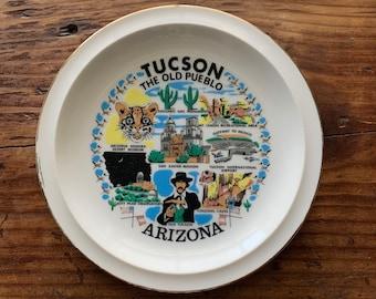 VINTAGE PLATE, Tucson, Arizona, The Old Pueblo, Famous Attractions, Gold Rim