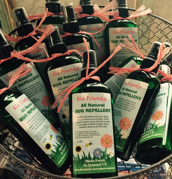 NATURAL BUG REPELLENT {Kid Friendly, Pure Essential Oils, Non-greasy, Two sizes}