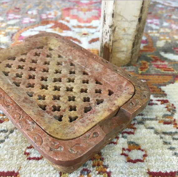 STONE SOAP DISH {Hand Carved Artisan Made Beautiful Natural Stone}