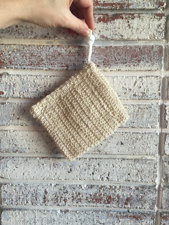 NATURAL BATH SACK {Natural Soap Saver, Gentle Exfoliation, Add to Gift Baskets}
