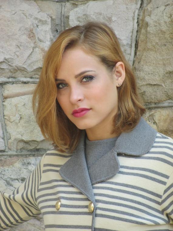 1960s Italian Wool Knit Grey & Cream Suit - Dress