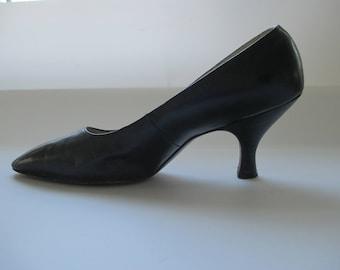 1950s I. Miller Black Pumps Heels Shoes - Size 5.5 B