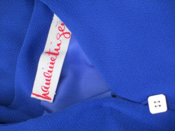 Pauline Trigere Royal Blue Silk Dress - image 5