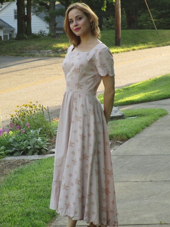 Fabulous Tina Leser for Foreman prairie dress with