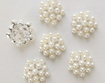 100 x IVORY ACRYLIC PEARL MIX DESIGNS MIX No.1 Embellishment