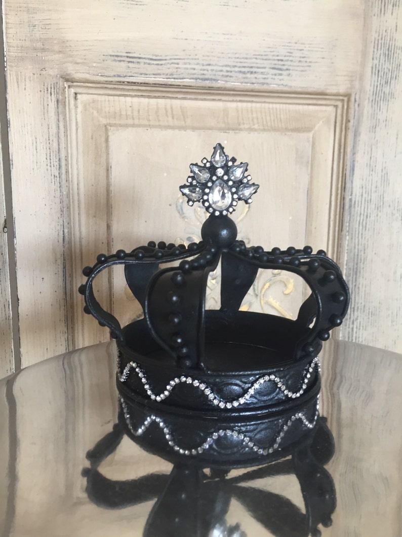 Black metal crown crown cake topper crown decor image 0