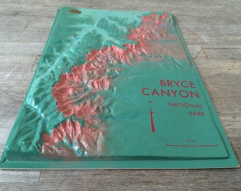 Vintage National Park Topographic Map Model - Bryce Canyon - TREASURY PICK