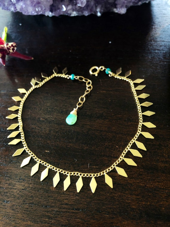 Maui Beach Gold Anklet