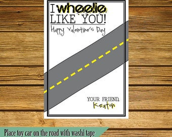 I Wheelie Like You Valentine's gift tag