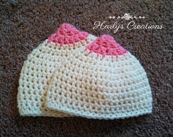 Hand Crocheted Nipple Hat Boob Beanie Breastfeeding Breast Cancer Awareness  All Sizes Newborn baby infant toddler child teen Adult 924a34bb23a7