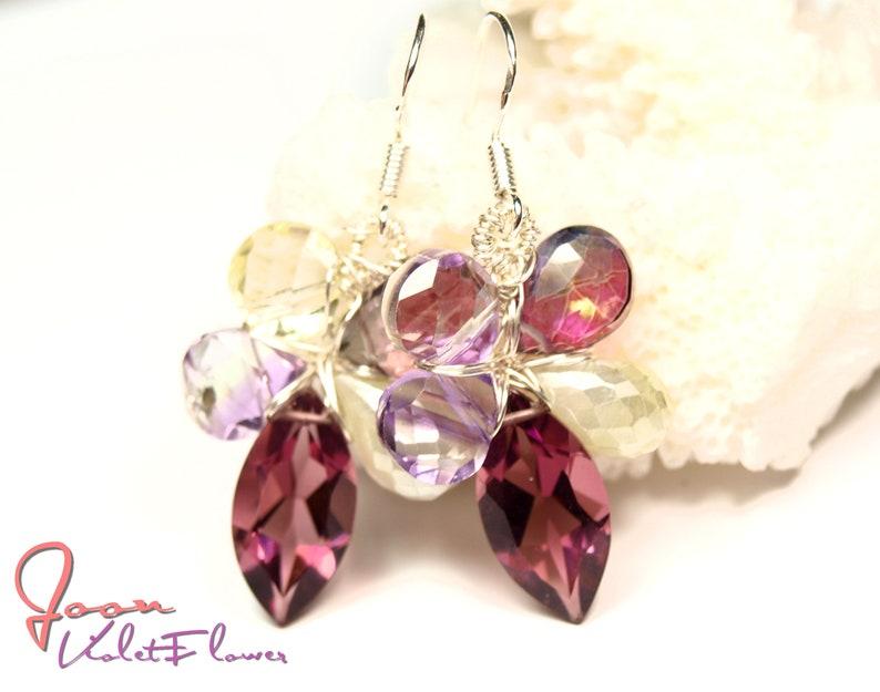 Earrings Gemflowers VioletFlower