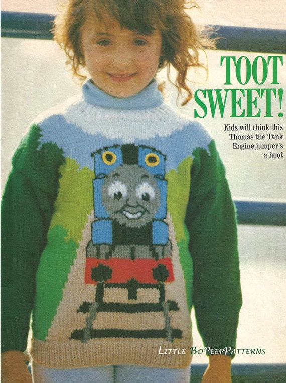 Thomas The Tank Knitting Pattern Childs Jumper Download