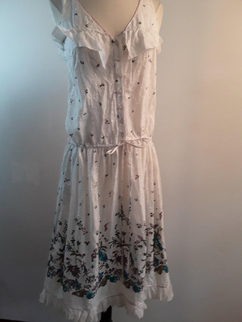 Urban outfitters sz med tagged 78 vintage  90s summer dress drawstring  waist sm meds ..larger