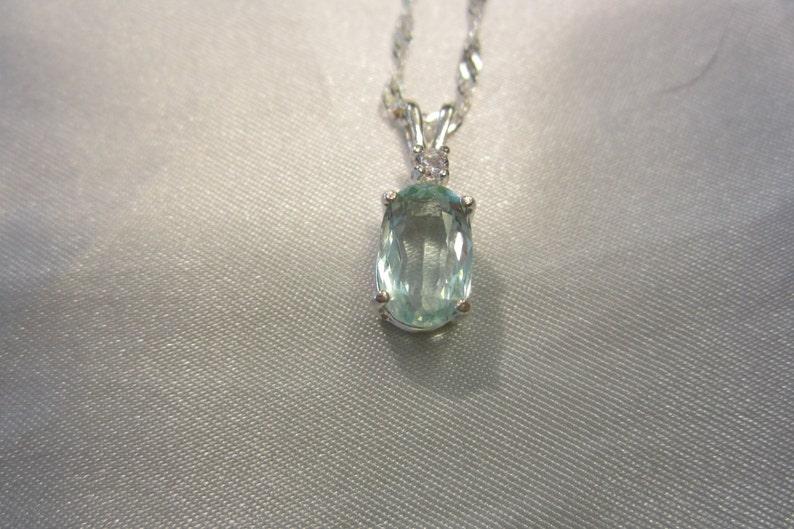 Natural Accented Aquamarine Pendant