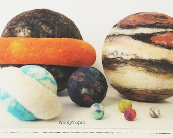 Solar System, Specialty Size, To Scale, unique outer space, planets, science, learning set, homeschool, Montessori teaching, Waldorf