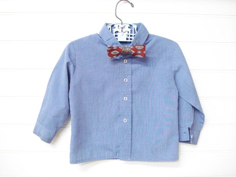 7360056ef Dos piezas camisa de vestir de bebé Vintage Ropa bebé niño