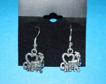 "Dangle ""Love Cheer"" Earrings"