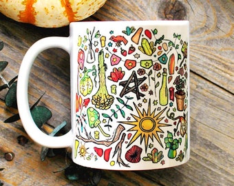 Light Witch Mug/ Halloween Coffee Mug/ Witchy Decor/ Green Witch/ Wiccan Decor/ Witchcraft/ Modern Witch/ Cottegecore/ Whimsical Gifts