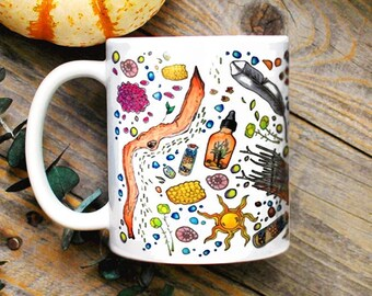 Hedge Witch Mug/ Witch Supplies Mug/ Modern Witch Coffee Mug/ Gift for Girlfriend/ Gifts for Her/ Green Witch/ Wiccan Mug/ Witchy Decor