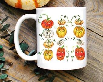 Halloween Mug/ Pumpkin Mug/ Fall Mug/ Witchy Decor/ Jack O Lantern Mug/ Wiccan Decor/ Pagan Samhain Coffee Mug/ Halloween Gifts for Her