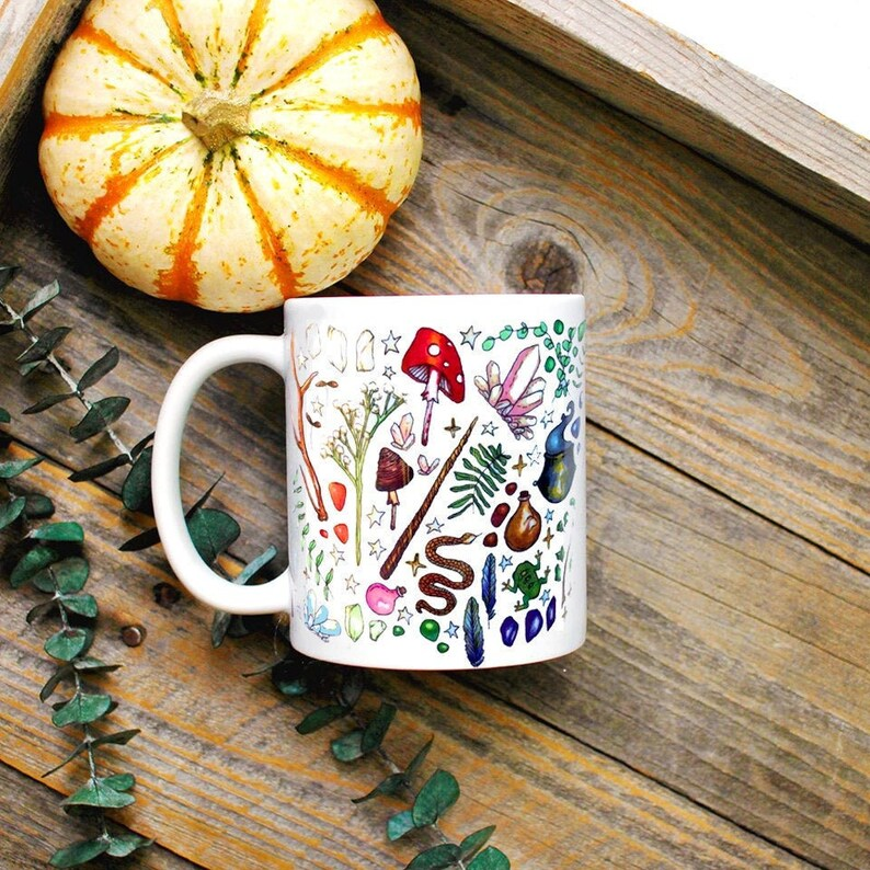 Witch Supplies Mug/ Witchy Decor/ Green Witch Mug/ Wiccan image 0