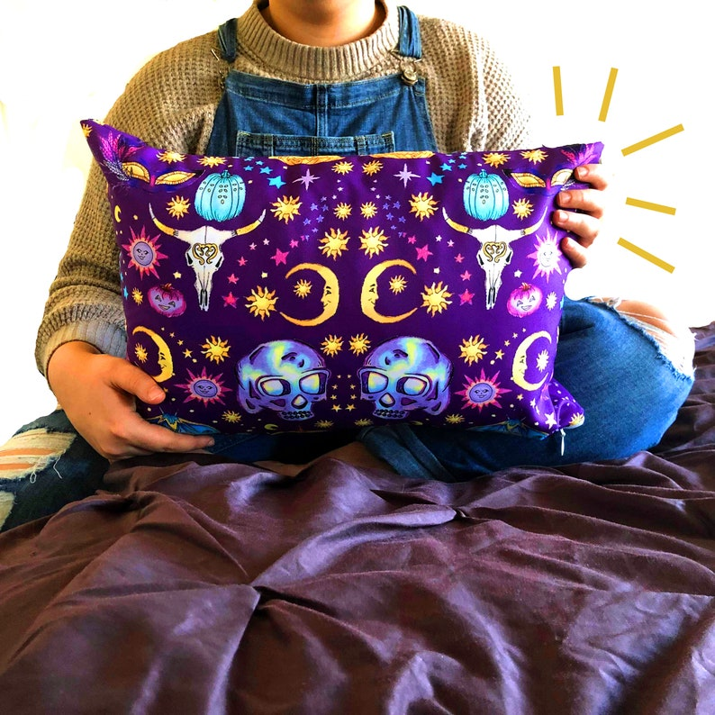 Masquerade Pillow/ Wiccan Decor/ Witchy Decor/ Witchy Pillow/ image 0