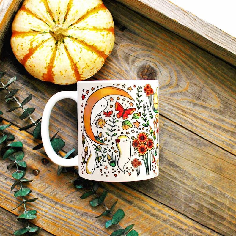 Witchy Harvest Mug/ Halloween Coffee Mug/ Witchy Decor/ Green image 1