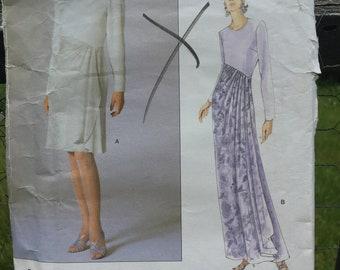 Carolina Herrera Sewing Pattern  Vogue 1769 Vintage Evening Gown  Cocktail Dress  Women/'s Size 8-12 Bust 31 12-34  Rare Find