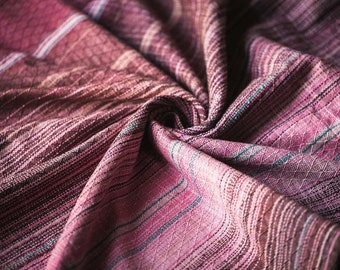 Scraps from handwoven baby wrap Continuity with silk