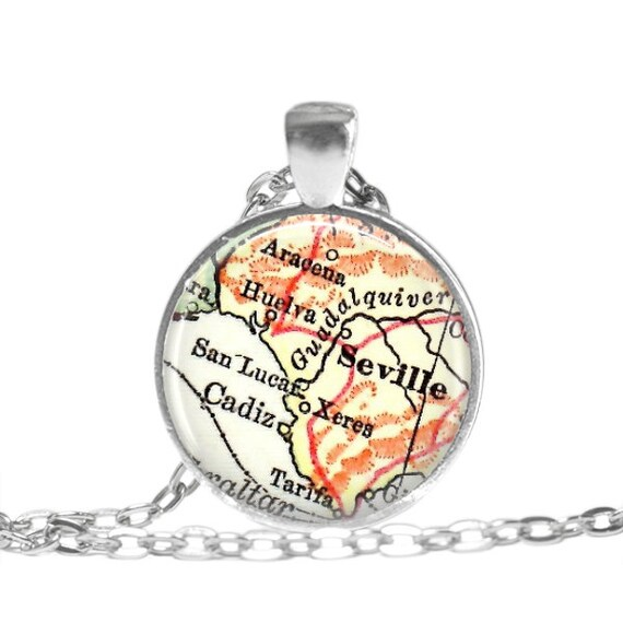Spain map pendant Spain pendant Spain necklace map jewelry map jewellery travel key chain keychain key ring key fob Spain map necklace